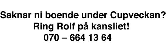 Rolf boende
